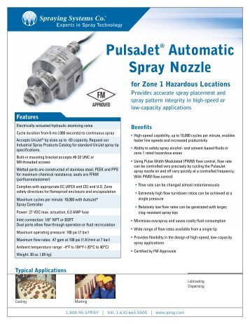 PulsaJet® Automatic Spray Nozzle - Spraying Systems Co.