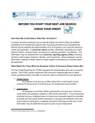 before you start your next job search: check your credit