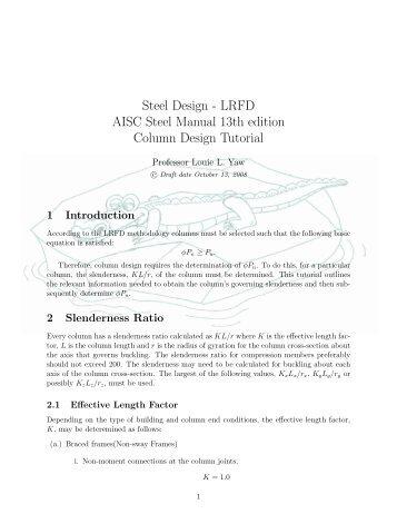 steel design lrfd aisc steel manual 13th edition tension limit rh yumpu com aisc manual 14th edition pdf download free aisc manual 14th edition pdf part 2