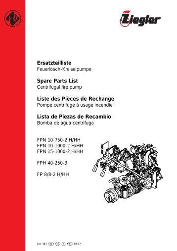 Ersatzteilliste Spare Parts List Liste des Pièces de ... - Ziegler