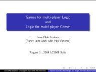 slides - Logic Colloquium 2009