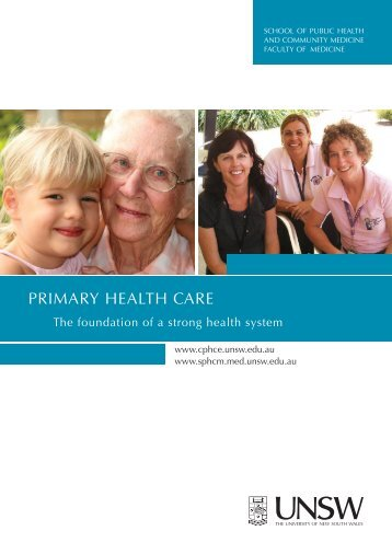 SPHCM Primary Health Care Research Brochure - School of Public ...