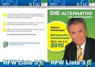 RFW Liste 3 RFW Liste 3 - (RFW) Steiermark