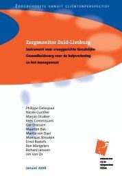 Inleiding Zorgmonitor Zuid-Limburg - Maastricht University