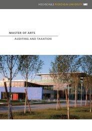 master of arts auditing and taxation - Hochschule Pforzheim
