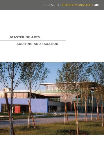 master of arts auditing and taxation - Hochschule Pforzheim