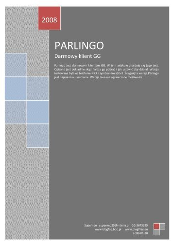 PARLINGO - Blog PLAY