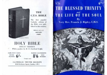 THE C.T.S. BIBLE