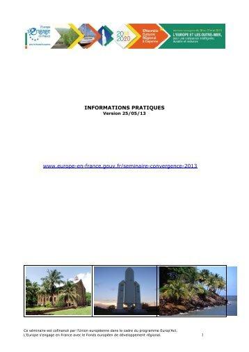 Informations pratiques - Europe en France, le portail des Fonds ...