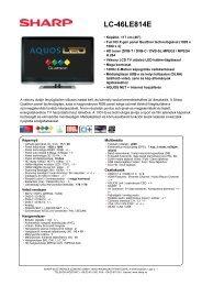 LC-46LE814E - LCD és plazma TV diszkont