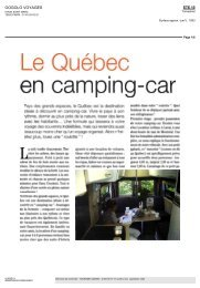 Le Québec en camping-car», Oogolo voyages, été 2010 - Tourisme ...