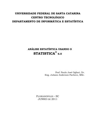 análise estatística usando o statistica 6.0 - Departamento de ...