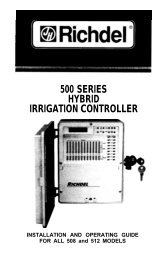 Richdel Lawn Genie 508 512 Controller Owner's ... - Irrigation Direct
