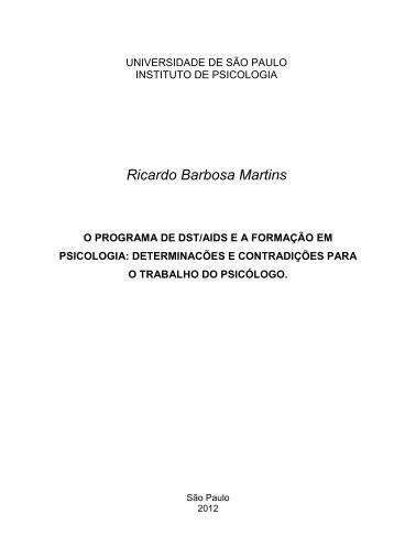 doutorado Ricardo - Centro de Referência e Treinamento DST/AIDS ...