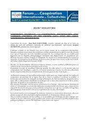 La coopération décentralisée avec l'Afrique centrale et des Grands ...