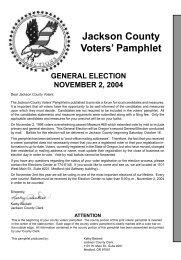 Pamphlet - Jackson County Oregon