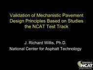 Validation of Mechanistic Pavement Design Principles Based on ...