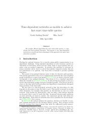 Time-dependent networks as models to achieve fast exact time-table ...