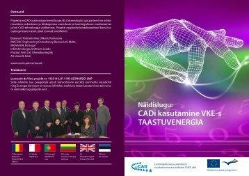 CADi kasutamine VKE-s TAASTUVENERGIA