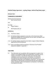 Detailed Design Agreement – Lighting Design ... - Public Art Online