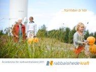 Presentation årsstämma.pdf - Rabbalshede Kraft