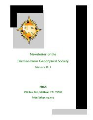 February 2011.pub - Permian Basin Geophysical Society