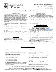 Licensure Candidate: Teacher Education Requirements