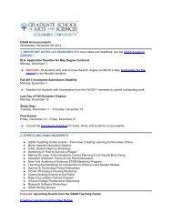 GSAS Announcements - November 28, 2012 - Graduate School of ...