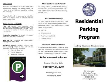 Residential Parking Program - The City of Covington
