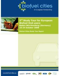 3 Study Tour for European Biofuel End-users - Biofuel Cities
