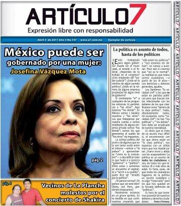 México puede ser gobernado por una mujer - a7.com.mx
