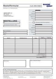 Bestellformular BESTELLUNG - Labor-Kennzeichnung