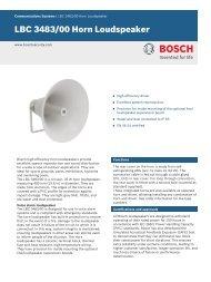 LBC 3483/00 Horn Loudspeaker - Bosch Security Systems