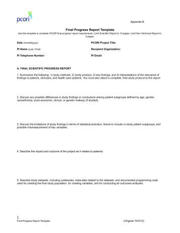 patient progress report sample