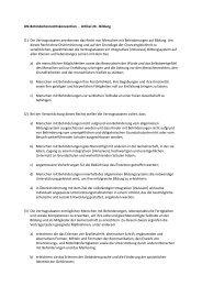 UN-Behindertenrechtskonvention - Artikel 24 - Bildung (1) Die ...