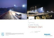 Case Study Srinakarin Dam - Lighting - Philips