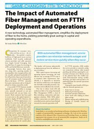 The Impact of Automated Fiber Management on FTTH Deployment ...
