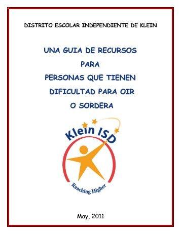 Una Guia De Recursos Para Personas Que Tienen - Klein ...