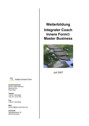 Master Business - Institut Innere Form