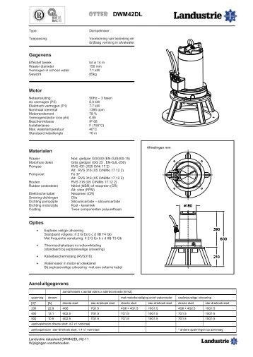 Datasheets DWM42 serie - Landustrie