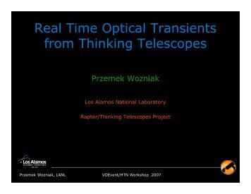 Real Time Optical Transients from Thinking Telescopes