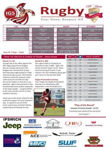 Newsletter No 10 2013 - Ipswich Grammar School