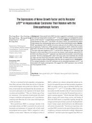 The Expressions of Nerve Growth Factor and Its Receptor p75NGFR ...