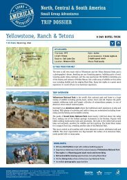 Yellowstone, Ranch & Tetons - Adventure Holidays & Activity Holidays