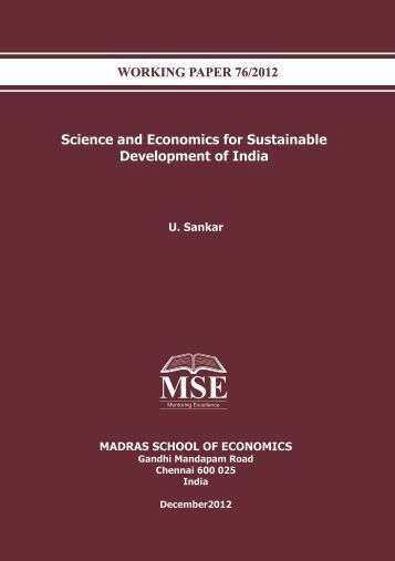 Science and Economics for Sustainable Development of India