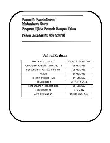Formulir Pendaftaran Program Tjipta Pemuda ... - PT SMART Tbk