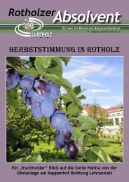 Rotholzer Absolvent - LLA Rotholz