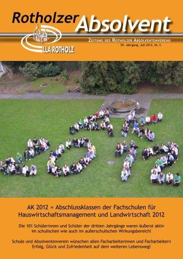 Absolvent Rotholzer ZEITUNG DES ROTHOLZER - LLA Rotholz