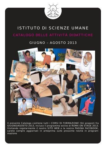Catalogo Corsi Giugno-Agosto 2013 - Istituto di scienze umane