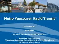 Metro Vancouver Rapid Transit - Honolulu Rail Transit Project